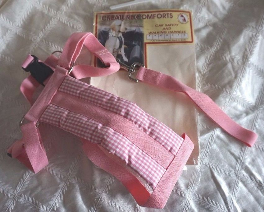 Padded Dog Car Safety Walking Harness Creature Comforts Large Size G ROTTWEILER